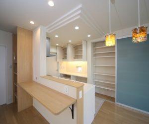 富山市の注文住宅施工例 キッチン