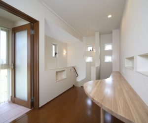 富山市の注文住宅施工例 二階