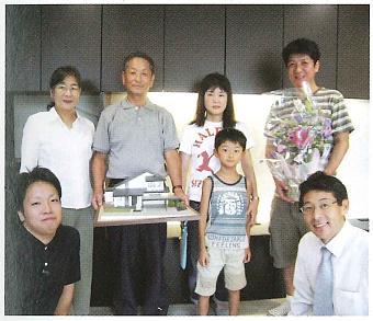 富山市の和モダン健康住宅のお引き渡し式