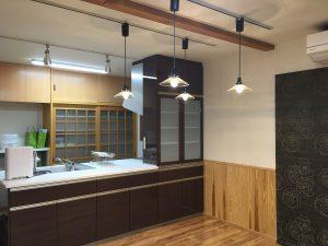 富山市の健康住宅のキッチン
