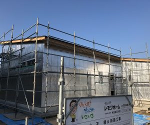 射水市に平屋プラスαの家を建てる 構造見学会