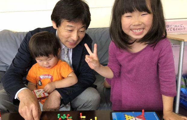 富山で家を建てるお客様のお子様笑顔