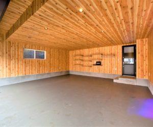 滑川市の注文住宅H様の車庫