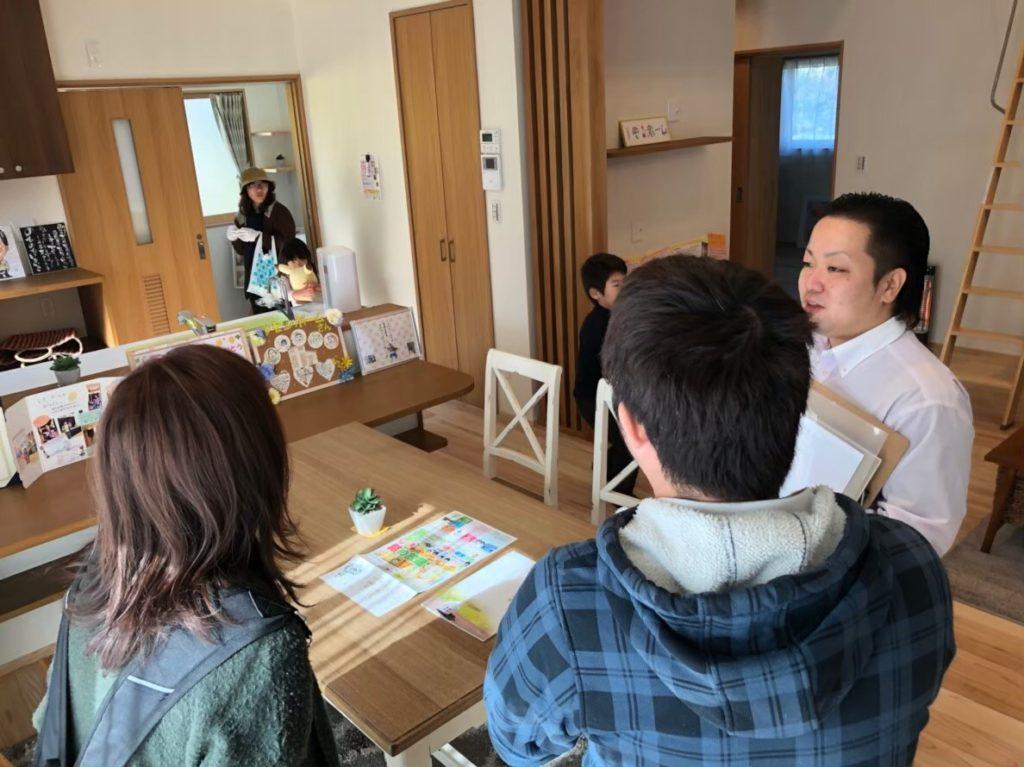 滑川市の注文住宅の見学会の対応