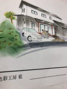 滑川市の注文住宅のパース完成