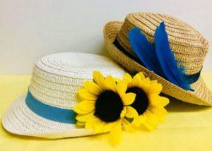 富山市の注文住宅レモンホームの麦わら帽子作りイベント