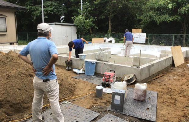 富山市の注文住宅の基礎工事