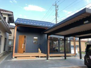 富山市の木の家K様邸の外観