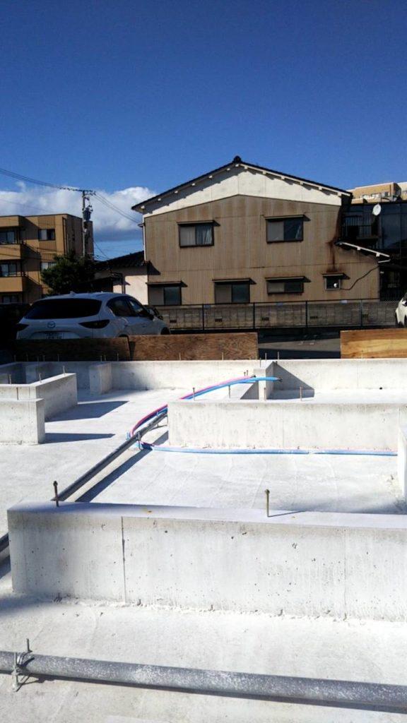 金沢市の注文住宅の基礎抗酸化作業