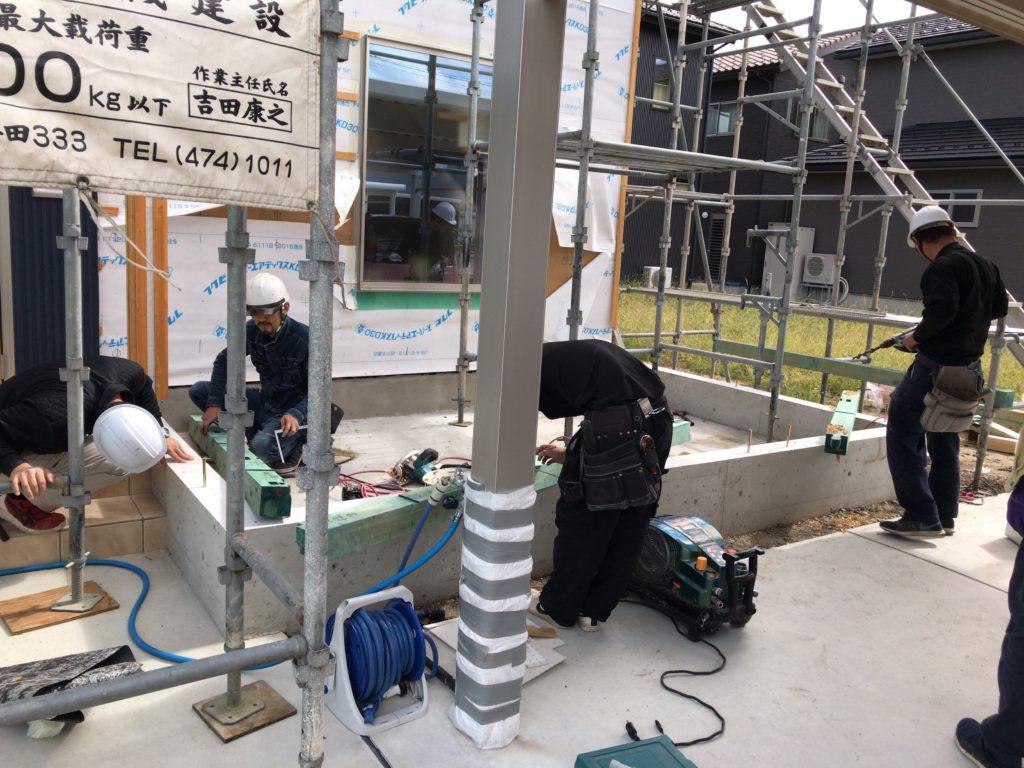 高岡市の健康住宅の増築工事のアップ