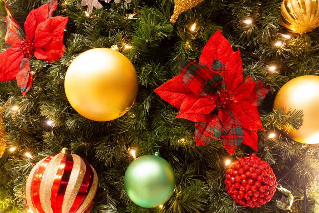 富山市の注文住宅のクリスマスイベントツリー