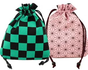 富山市の注文住宅の和柄巾着袋作り
