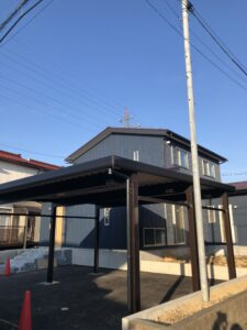 富山市の注文住宅は完成間近