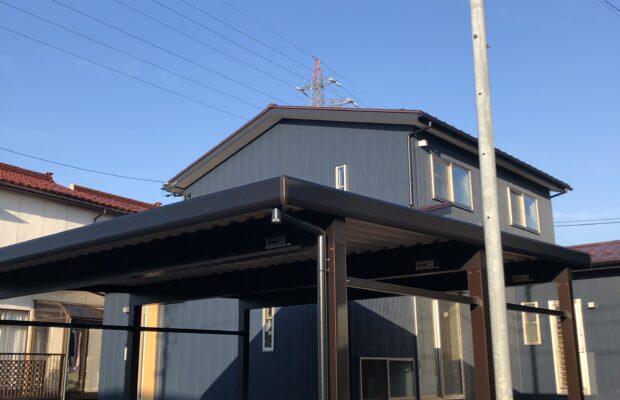 富山市の注文住宅 完成間近のお家