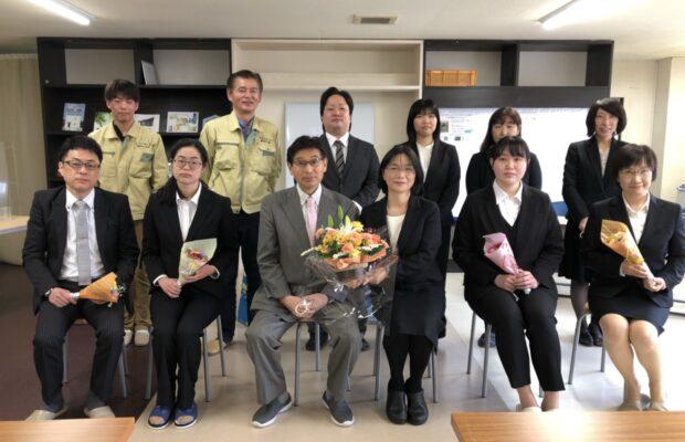 富山市の注文住宅の入社式