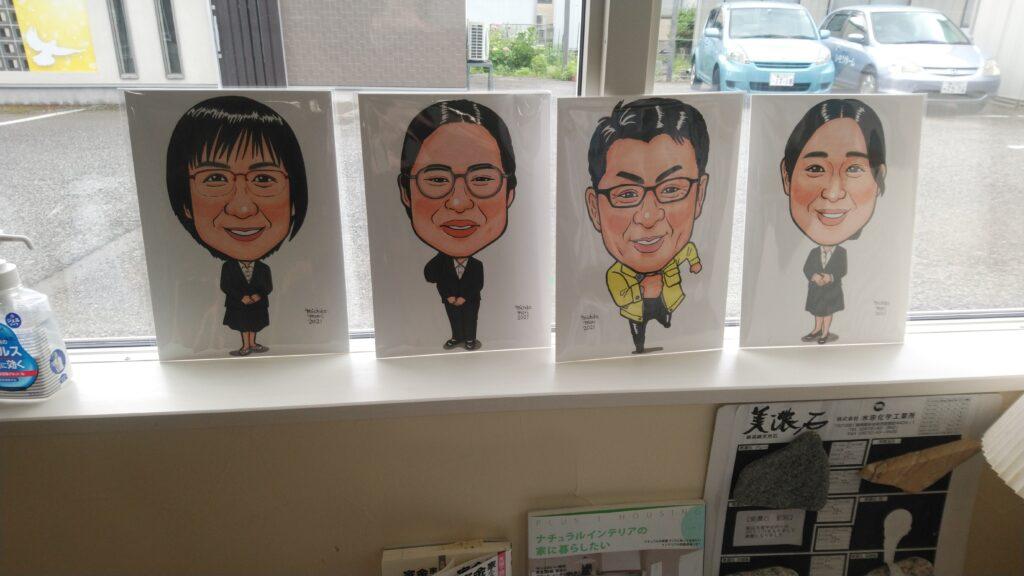 富山市の注文住宅のスタッフ似顔絵