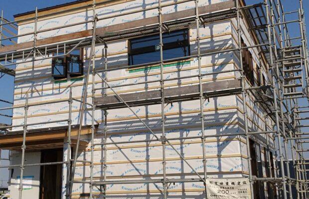 小矢部市の木の家の工事は順調